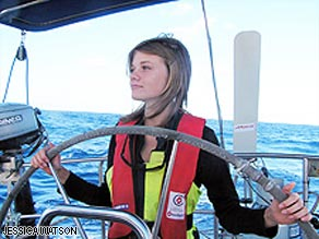 Sixteen-year-old Jessica Watson of Australia plans to sail solo around the world