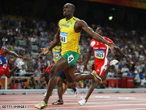 Bolt claimed 100 meters gold in Beijing in a new world record.