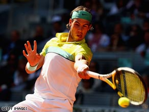 Nadal won a mammonth tie-break to eventually defeat Djokovic to reach the Madrid final.