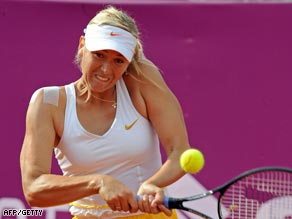Sharapova could not match the form of her opening two matches in Warsaw.