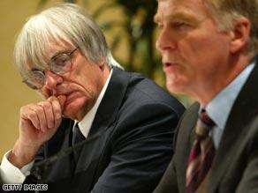 F1 supremo Bernie Ecclestone (left) and FIA chief Max Mosley have been in urgent talks with F1 teams.