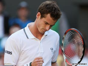 Murray was taken to four sets before eventually reaching the second round of the men's singles at Wimbledon.