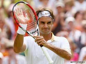 Federer impressed for the majority of his third round Wimbledon win over Germany's Philipp Kohlschreiber.