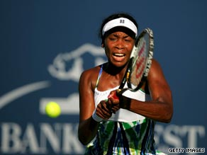 Venus Williams cruised through her opening match in the Bank of the West Classic.