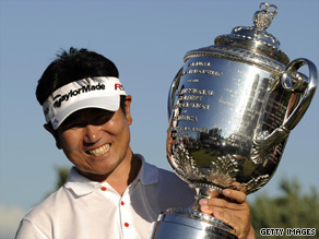 Yang Yong-Eun became the first Asian-born male to win a major after his victory in the U.S. PGA Championship.