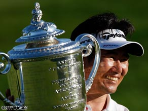 Yang was the first Asian-born player to get his hands on a major golf trophy.