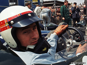 Three-time F1 champion, Jackie Stewart back in his heyday.