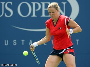 Clijsters overpowered Kutuzova in less than an hour on her return to the U.S. Open.
