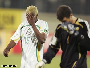 South Africa crashed out of the 2006 African Cup of Nations without scoring a single goal.