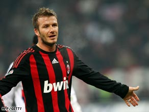 David Beckham has become a crowd favorite at the Rossoneri but he will be returning to LA.