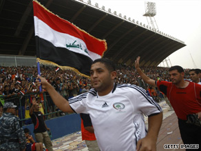 Iraq's first international match in Baghdad was a special moment for the country's football fans.