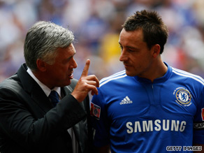 John Terry's decision to stay at Chelsea will be key to Carlo Ancelotti's chances of winning rhe title.