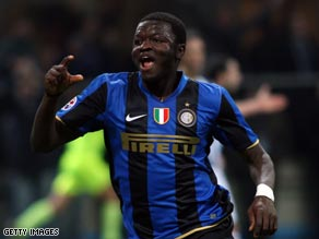Muntari has established himself as a favorite at the San Siro after his move from Portsmouth.