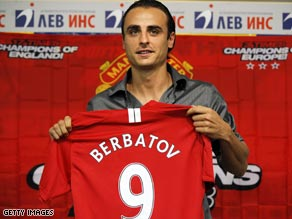 Dimitar Berbatov concludes a last-gap move from Tottenham to Manchester United on last year's transfer deadline day.