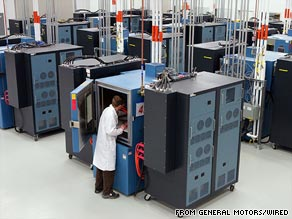 The GM battery lab is located at its sprawling Warren Technical Center campus outside Detroit, Michigan.