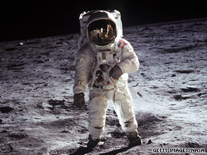 Buzz Aldrin walks on the moon on July 20, 1969. NASA is preparing to send astronauts back and build a lunar base.