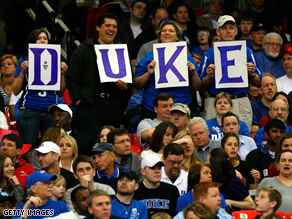 Duke's championship game tonight will result in huge ratings for CBS.
