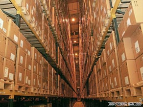Stocks of antiviral treatments are pictured at a warehouse in an undisclosed location in the UK