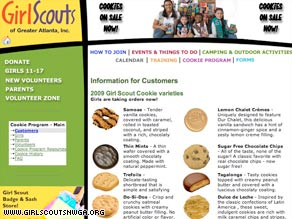 People buying Girl Scout cookies like these on their Web site this year can expect fewer cookies in the packages.