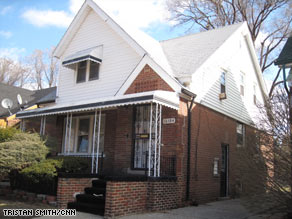 This home in Detroit, Michigan, was bought for $12,000 and sold the next week for a $5,000 profit.