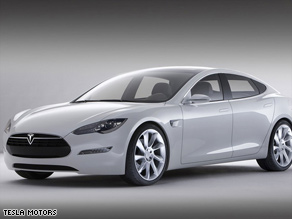 Tesla unveils its Model-S sedan, with a base price of $57,400. The manufacturing plant will be in California.