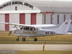 The pilot was flying a plane similar to this one -- a Cessna 172 -- before he landed in Missouri.