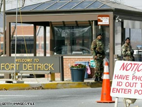 Fort Detrick is the home of the Army's top biological research facility.