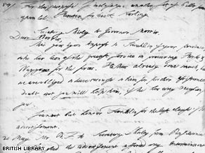 An extract from a letter concerning the start of the French and Indian War, as copied by Briton Thomas Birch in 1757 or 1758.