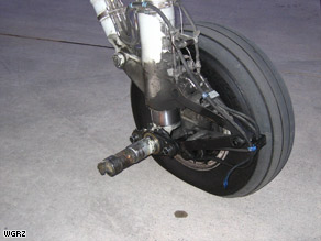 A wheel fell off the landing gear of Q400 Bombardier upon landing on Colgan Flight 3268 earlier this week.