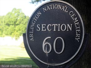 Arlington's Section 60 is the final resting place for many casualties of the wars in Iraq and Afghanistan.