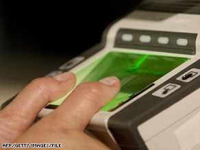 Foreign visitors undergo mandatory fingerprint screening when they enter the United States.