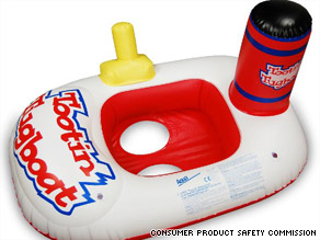 The Squirtin' Tootin' Tugboat is among the floats covered by the recall.
