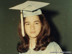 Sonia Sotomayor, here at her 8th-grade graduation, had to finish homework and chores before she could go out.