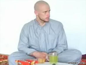 Pfc. Bowe Bergdahl shown here in a video made by his captors, members of the Taliban.