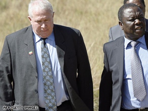 Roy Bennett, left, pictured with MDC leader Morgan Tzvangirai