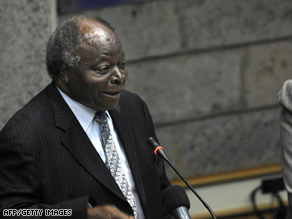 Philip Alston called for Kenyan President Mwai Kibaki (pictured) to fire the police commissioner.