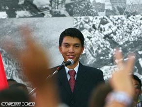 Andry Rajoelina is six years too young to be Madagascar's president under its constitution.