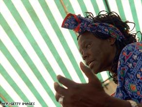 Nobel Peace Laureate Wangari Maathai is urging Africans to rise up and to demand responsible leadership.