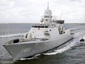 The Dutch naval frigate De Zeven Provincien tracked the pirates back to their mother ship.