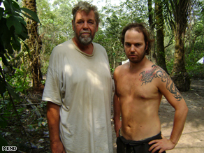 The Movement for the Emancipation of the Niger Delta released this image of two men it claims are British hostages.