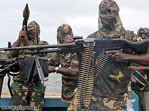 File image shows Movement for the Emancipation of the Niger Delta fighters.