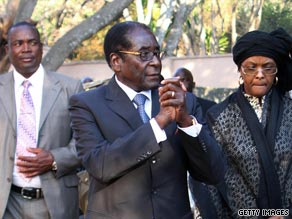 Zimbabwe President Robert Mugabe met with a delegation from the European Union.