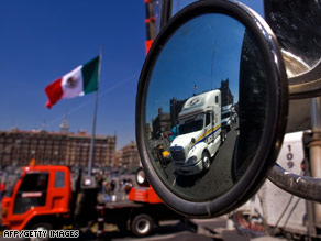 Mexico's state-run news agency says tariffs are in retaliation for cancellation of a U.S. trucking project.