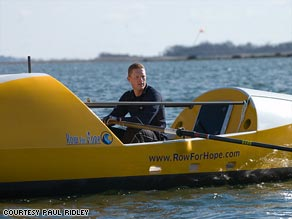 Paul Ridley trained for months before embarking on his solo rowing trip across the Atlantic Ocean.