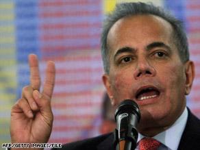 Manuel Rosales, mayor of Maracaibo in Venezuela's Zulia state, entered Peru as a tourist.