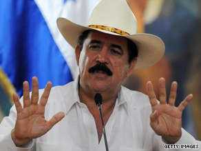 Honduran President Jose Manuel Zelaya was ousted in a military-led coup.