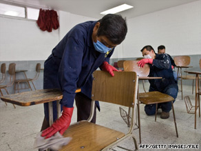 After the first confirmed swine flu reports in April, Mexico shut down all of its schools and many public venues.