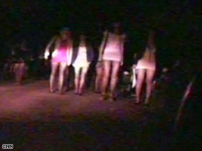 Aid agencies say young women are being forced into prostitution across Russia's capital.