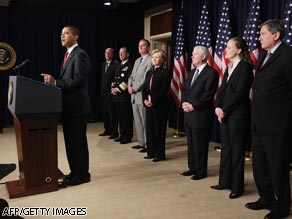 President Obama announces anti-terror strategy on Friday with top administration policy makers present.