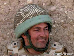 Lt. Col. Rupert Thorneloe was killed when a roadside bomb denotated in Helmand province.